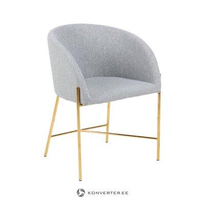 Harmaa-kultainen tuoli Nelson (Interstil Tanska) (ehjä näyte)
