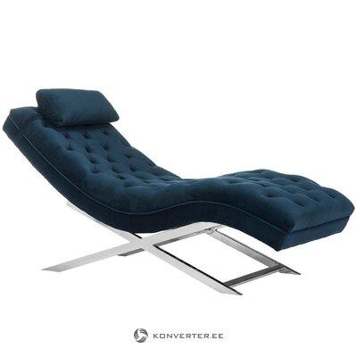 Tumši zils gultas režģis samta karā (safavieh)