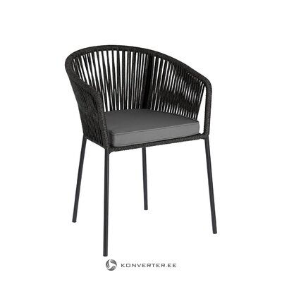 Black indoor and outdoor chair (yanet)