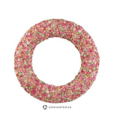 Розовый декоративный венок (джолипа)