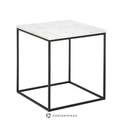 Neliels marmora kafijas galdiņš (alys) (mazi trūkumi zāles paraugs)