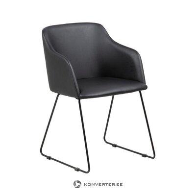 Melns krēsls Casablanca (Acotna) (zāles paraugs mazs skaistuma defekts)