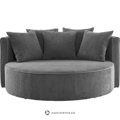 Темно-серый бархатный диван вайоминг (jotex)
