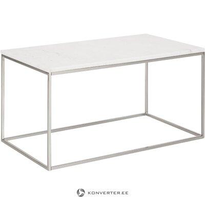 Gaiši marmora kafijas galdiņš (alys) (viss zāles paraugs)
