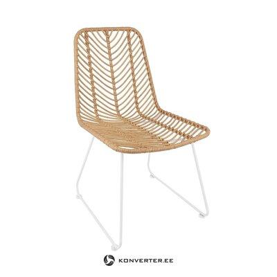 Brūns un balts dārza krēsls Providencia (PRL) (viss zāles paraugs)