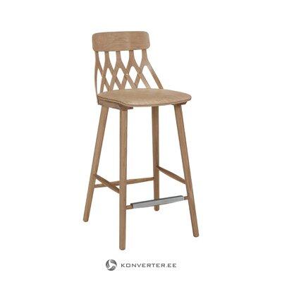 Tammi korkea design-tuoli (hans k) (pienet puutteet salinäyte)