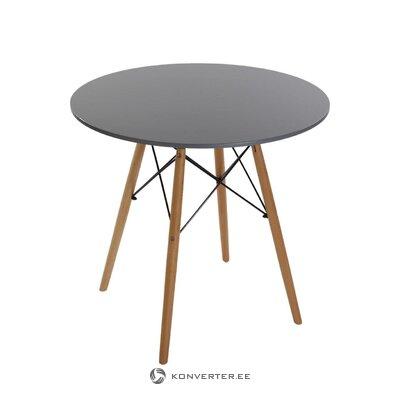 Harmaa-ruskea ruokapöytä (priya) (rikki näytesali)