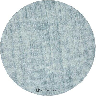 Mėlynas rankomis austas viskozinis kilimas jane ø 200 cm