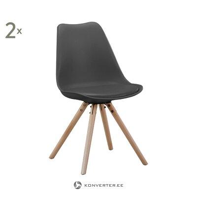 Tummanharmaa tuoli Bern (BDExx) (kauneusvirhe salinäyte)