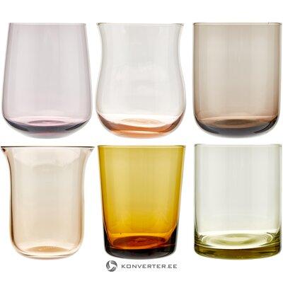 """Skirtingų formų geriamojo stiklo rinkinys 6 dalių """"desigual"""" (""""Bitossi"""" namai)"""