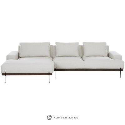 Beige-black corner sofa (brooks)