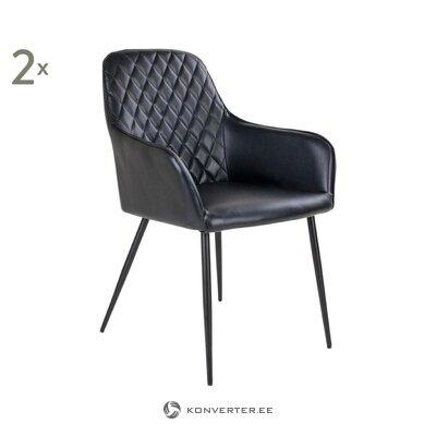 Melns ādas krēsls (nordic house) (viss zāles paraugs)