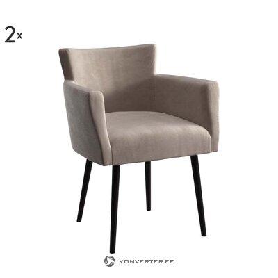 Samta atzveltnes krēsls (sols un bergs)