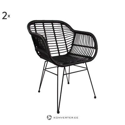 Black garden chair (costa)