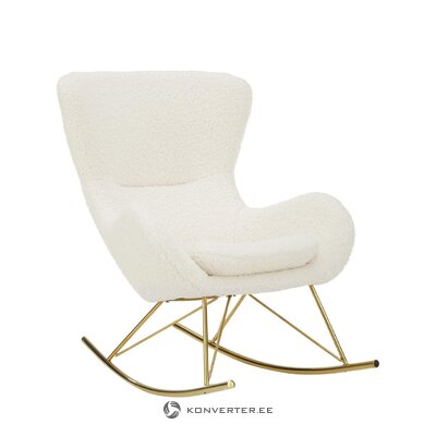 White soft rocking chair (wing)