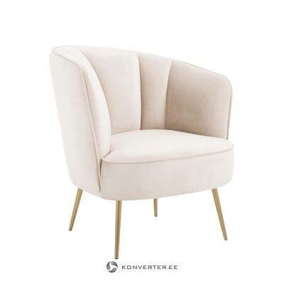 Bēšs samta krēsls (louise)