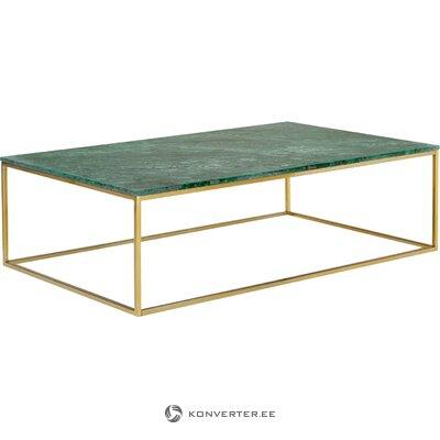 Zaļa marmora kafijas galdiņš (alys)