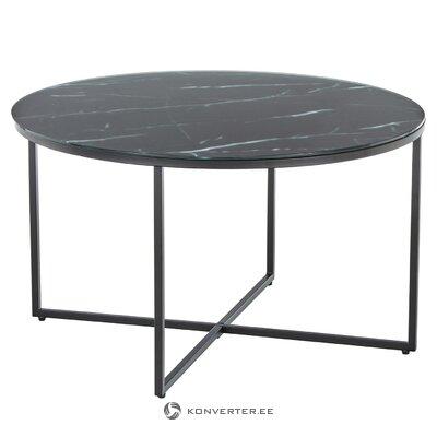 Melna marmora kafijas galdiņu imitācija (Antigva)