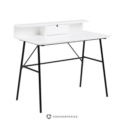 Black and white desk with pascal (actona