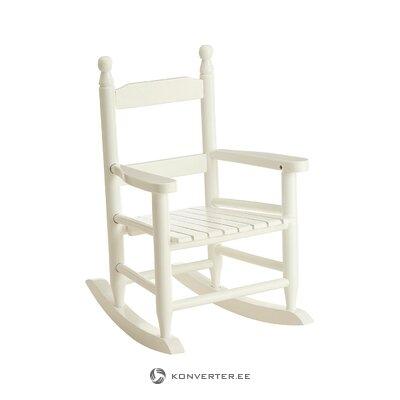 Balta vaikiška supamoji kėdė (pagrindiniai namų apyvokos daiktai)