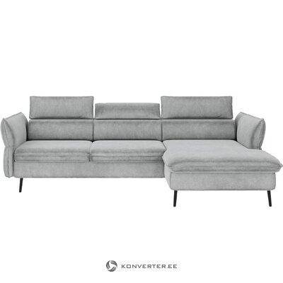Бархатный угловой диван-кровать валентина (besolux)