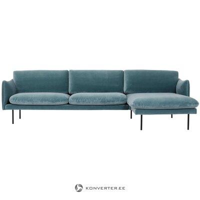 Velvet corner sofa (moby)