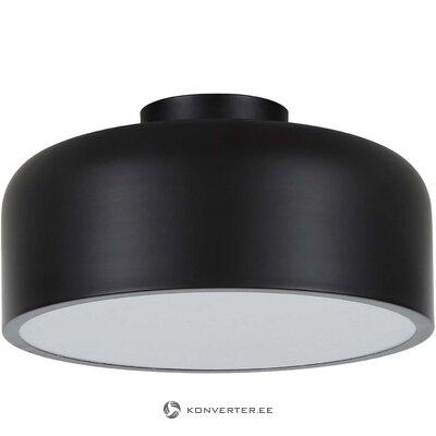 Черный потолочный светильник (нет) (не комплектуется образец холла)