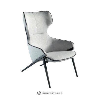 Pelēks-melns krēsls Padina (Angel Cerdá)