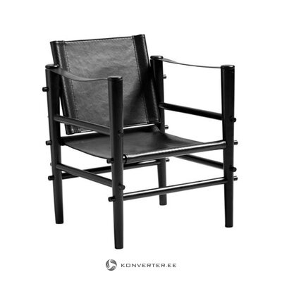 Melns dizaina krēsls cēls (cinas)