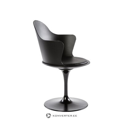 Melns dizaina krēsls Granada (Tradestone)