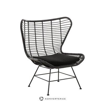 Juodojo dizaino sodo kėdė (Costa)