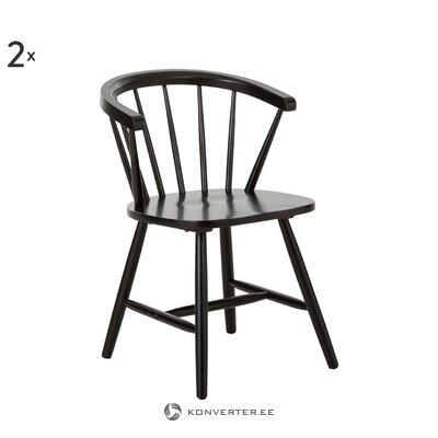 Guminė medinė juoda kėdė Megan (Jella & Jorg)