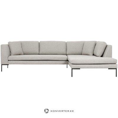 Большой светло-серый угловой диван (emma)