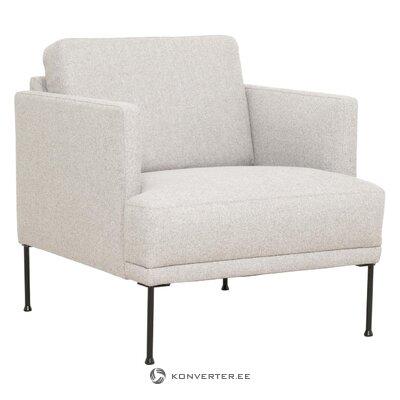 Светло-серое кресло fluente