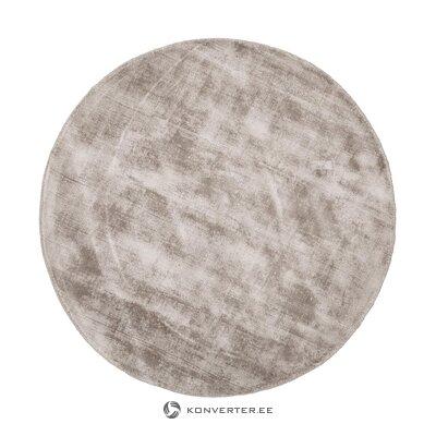 Ruskea käsin kudottu viskoosimatto jane ø 200 cm (viallinen näyte)
