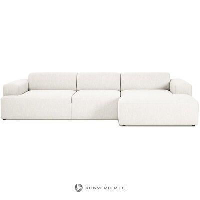 Светлый большой угловой диван (мелва)