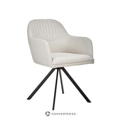 Pilkai juoda pasukama kėdė (lola) (su nedideliu trūkumu salės pavyzdys)