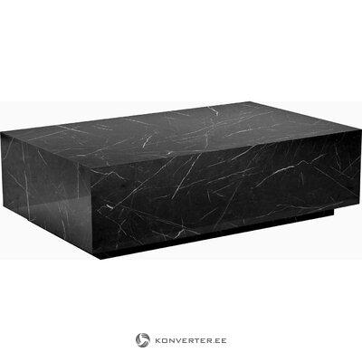 Melna dizaina kafijas galdiņš (Lesley)