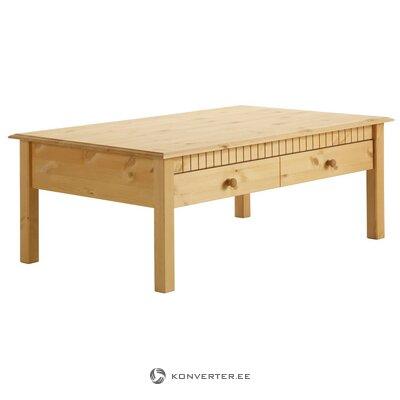 Gaiši brūns masīvkoka kafijas galdiņš