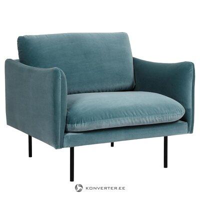 Green velvet armchair (moby)