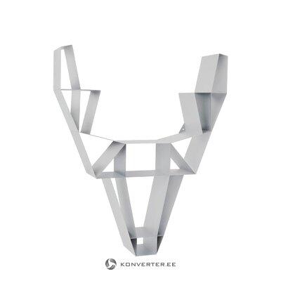 White metal shelf (deer)