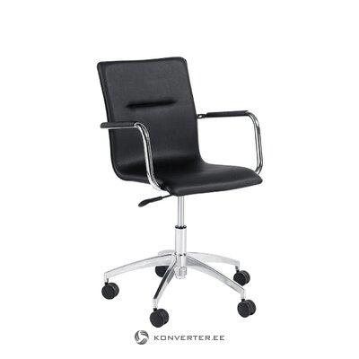Черный офисный стул anton (заброс)
