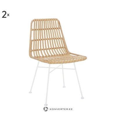 Коричнево-белый садовый стул (коста)