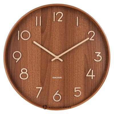 Brown wall clock pure (karlsson) (with beauty defects. Hall sample)
