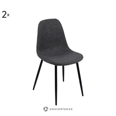 Harmaa-musta tuoli Karla (private label)