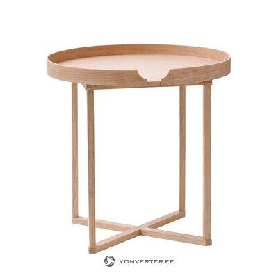 Brūns mazs kafijas galdiņš Damien (vadu darbi)