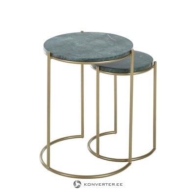 2 dalių marmurinis kavos staliuko komplektas (ella)