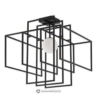 Черный потолочный светильник (рубин)