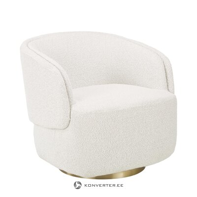 White design armchair (irene)