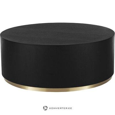 Журнальный столик чёрно-золотой (кларс)